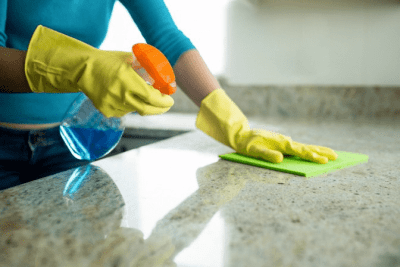 No No's When Cleaning, Cleaning Counter
