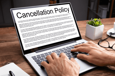 Reschedule My Cleaning Clients, Cancelation Policy on Computer