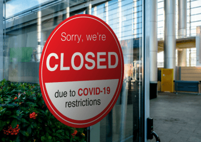 The Big Bailout for House Cleaners, Sign Closed Due to Covid-19 Restrictions