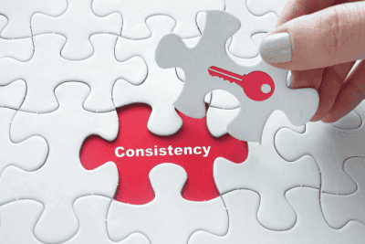 Business Owners to Gain Respect, Consistency Concept