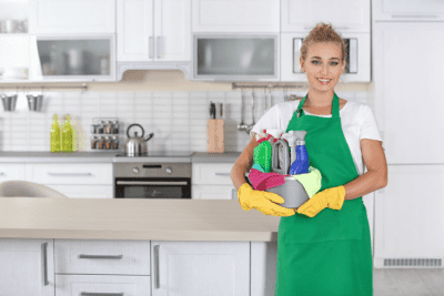 Business Owners to Gain Respect, House Cleaner in Kitchen