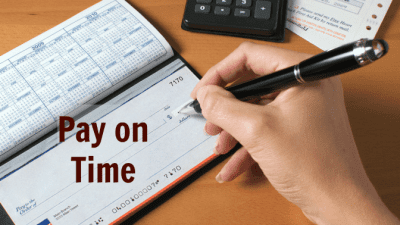 Business Owners to Gain Respect, Writing Check, Pay On Time