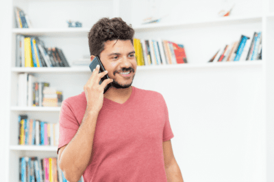 Employees or Contractors, Happy Man Talking on Phone