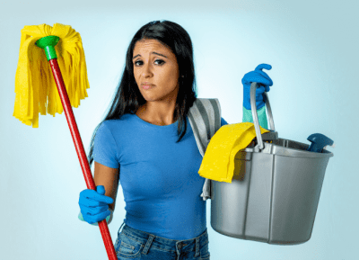 Keep Employees From Stealing Your Clients, Annoyed House Cleaner
