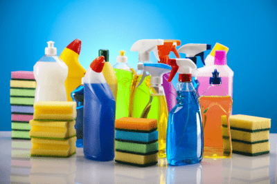 Spend Annually on Cleaning Supplies, Cleaning Supplies on Counter