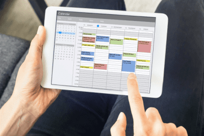 Time Slots for Cleaning Accounts, Blocking Schedule on Tablet