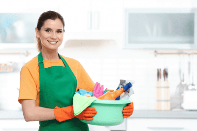 Are Credentials Worth Paying For, Woman Holding Cleaning Supplies
