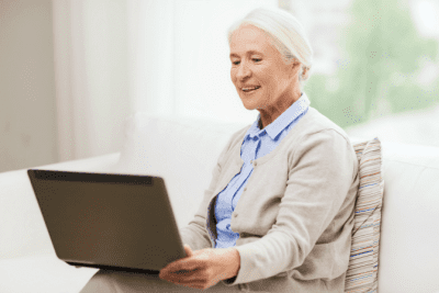 Are Credentials Worth Paying For, Woman Using Computer