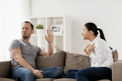 Big Mistakes House Cleaners Make 19-21, Couple Arguing on Couch