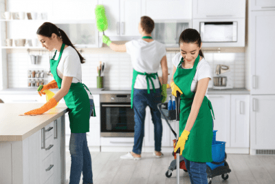 Can I Charge by the Hour for House Cleaning, Cleaning Crew in Kitchen