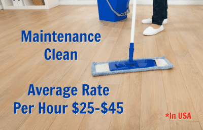 Can I Charge by the Hour for House Cleaning, Maintenance Clean Average