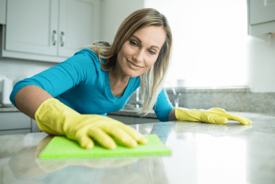 Norwex for Cleaning, Woman Wiping Counter