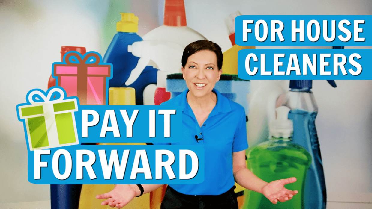 Pay It Forward for House Cleaners, Angela Brown, Savvy Cleaner