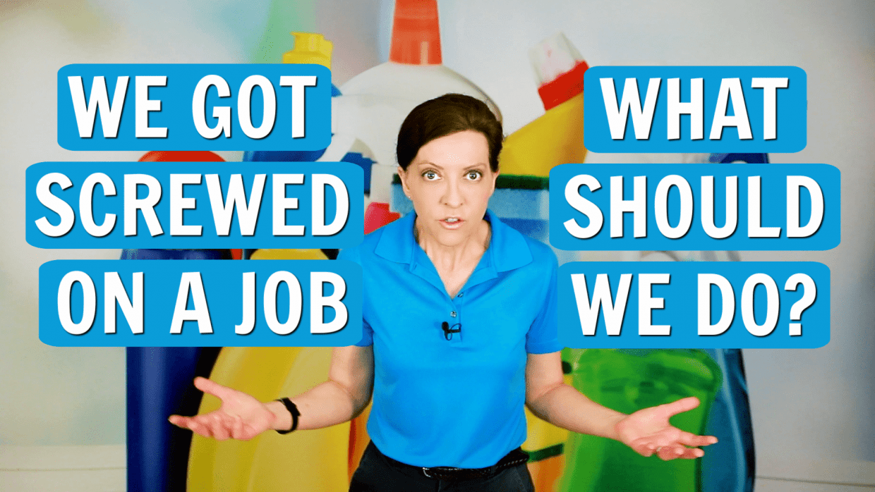 We Got Screwed On a Job, Angela Brown, Savvy Cleaner