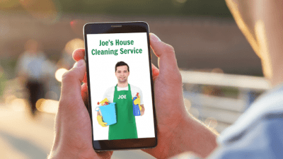 Homeowner Gets Burned by House Cleaner, Looking at House Cleaner on Phone