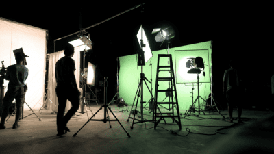 What I Learned from Doing 900 Cleaning Videos, Green Screen on Set
