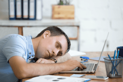 What I Learned from Doing 900 Cleaning Videos, Man Sleeping at Desk