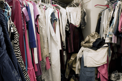 Interrupted While Cleaning, Closet Full of Clothing
