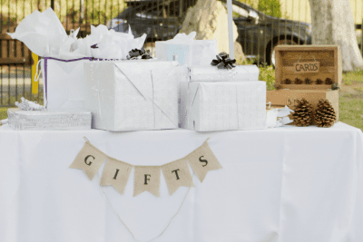 Interrupted While Cleaning, Wedding Gift Table