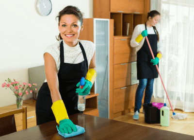 No One is Hiring Me for Cleaning, Two House Cleaners