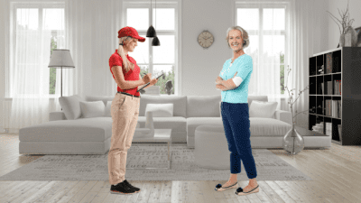 No One is Hiring Me for Cleaning, Walkthrough with Mature Woman