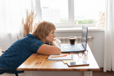 No One is Hiring Me for Cleaning, Woman Looking at Computer