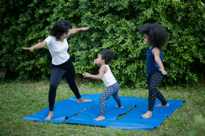 What Do You Want, Family Doing Yoga Outside
