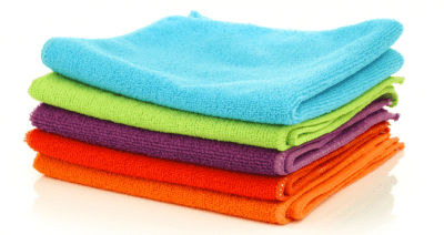 Cleaning Cloths - Who Provides Them, Pile of Cleaning Cloths