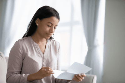 Price Increase Due to Age, Woman Reading Letter