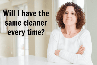 Will the Same Person Be Cleaning My House, Woman with Arms Crossed, Will I Have the Same Cleaner Every Time