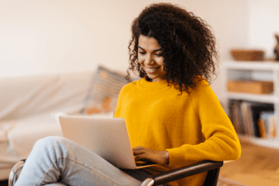 How to Get Cleaning Clients Online, Woman on Computer