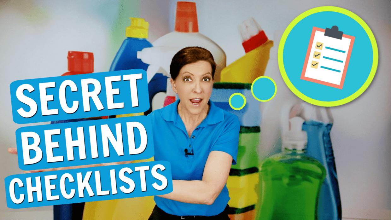The Secret Behind Checklists, Angela Brown, Savvy Cleaner