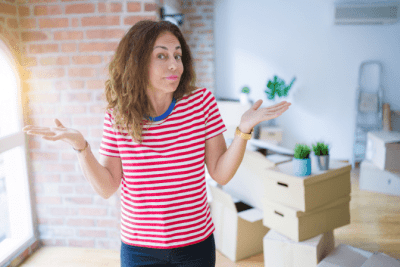 How Much to Clean an Apartment, Confused Woman
