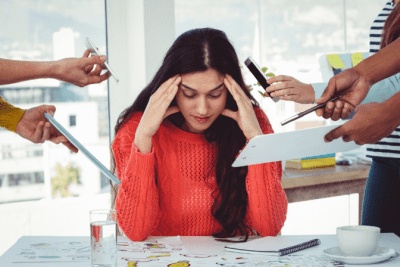 Should You Tell Employees You're New, Overwhelmed Woman