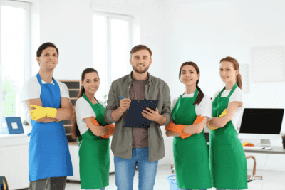 Should You Tell Employees You're New, Team of House Cleaners