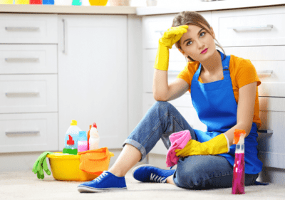 The Secret Behind Checklists, Tired House Cleaner