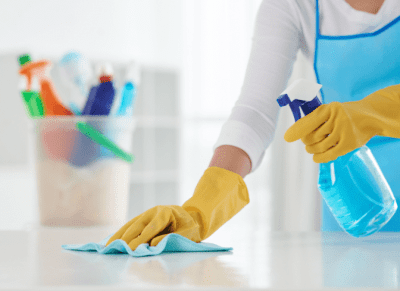 Why Do Clients Hover and Follow You Around, House Cleaner Cleaning Counter