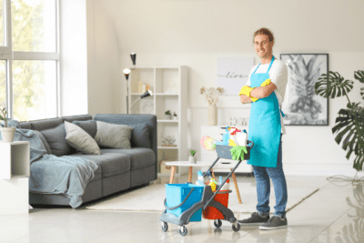 Why Do Clients Hover and Follow You Around, House Cleaner and Supplies