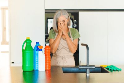 Bad Stuff Will Happen To You, Worried Woman Cleaning