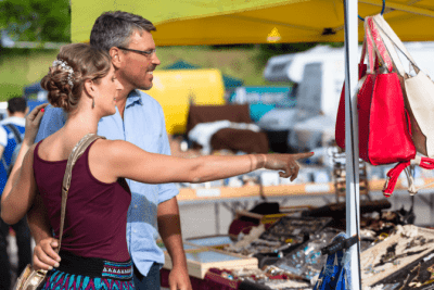 Hoarding Cleanup A New Way to Help, Man and Woman at Flea Market