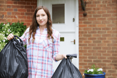 Hoarding Overhaul, Woman With Bags of Trash