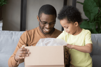 House Cleaner Breaks Client's Stuff, Man and Child Open Box