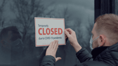 Sloppy House Cleaner, Man Puts Up Closed Sign