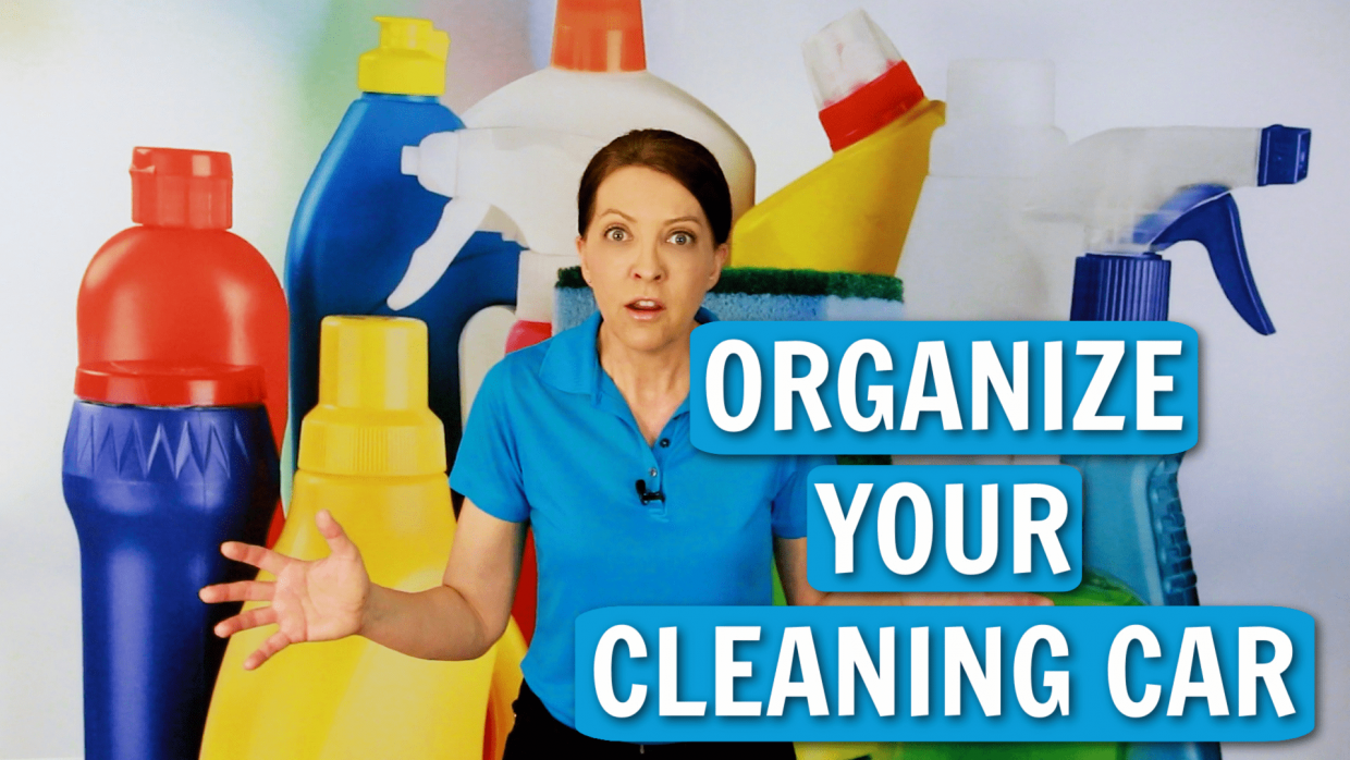 Organize Your Cleaning Car Angela Brown Ask a House Cleaner