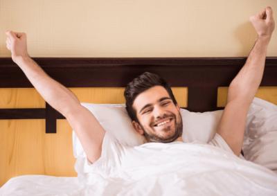 Abundance, Happy Man Waking Up