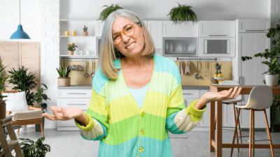 Ask and You Shall Receive, Confused Woman in Kitchen
