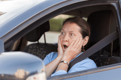Ask and You Shall Receive, Surprised Woman in Car
