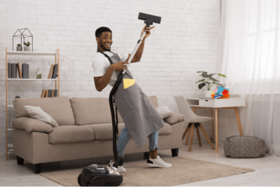 Living a Life of Wealth, House Cleaner With Vacuum