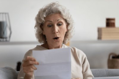 Notice to Raise Rates, Shocked Woman Reads Letter
