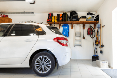 Organize Your Cleaning Car, Car in Garage